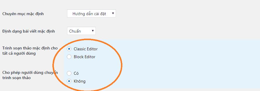 cài đặt plugin classic editor