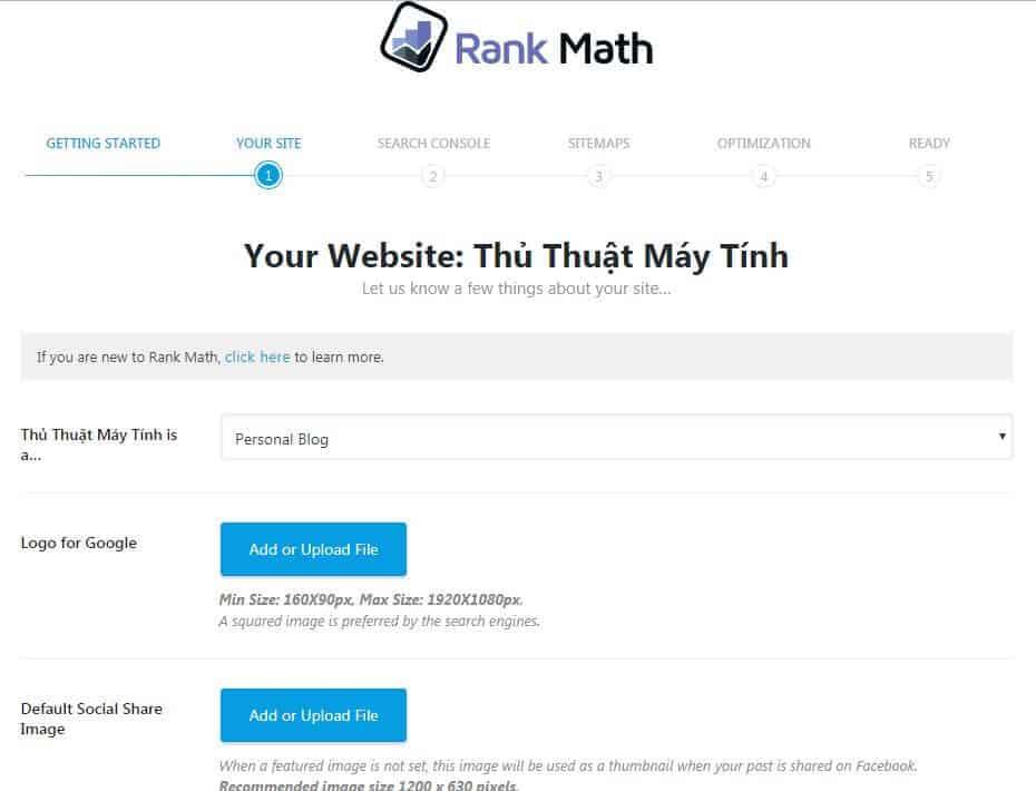hướng dẫn thiết lập plugin rank math seo 1