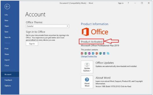 key office 2019 Kích hoạt Microsoft Office 2019 Professional
