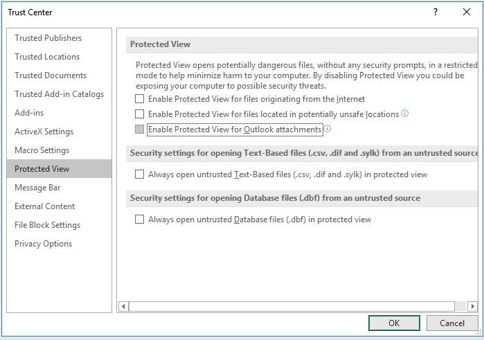 sửa lỗi Excel không mở được file