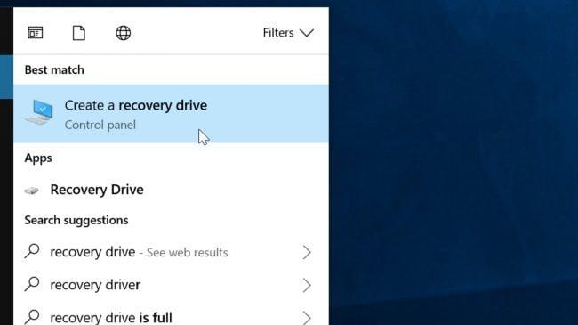 tạo USB cứu hộ máy tính