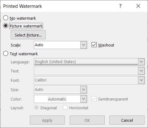 tạo và xóa watermark trong Word
