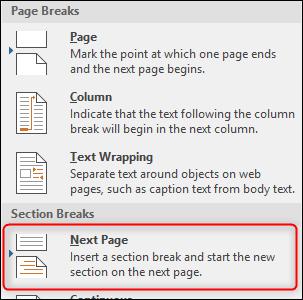 đánh số trang trong Word