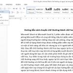 Cách chuyển chữ thường thành chữ hoa trong Word, Excel