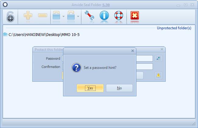đặt mật khẩu folder