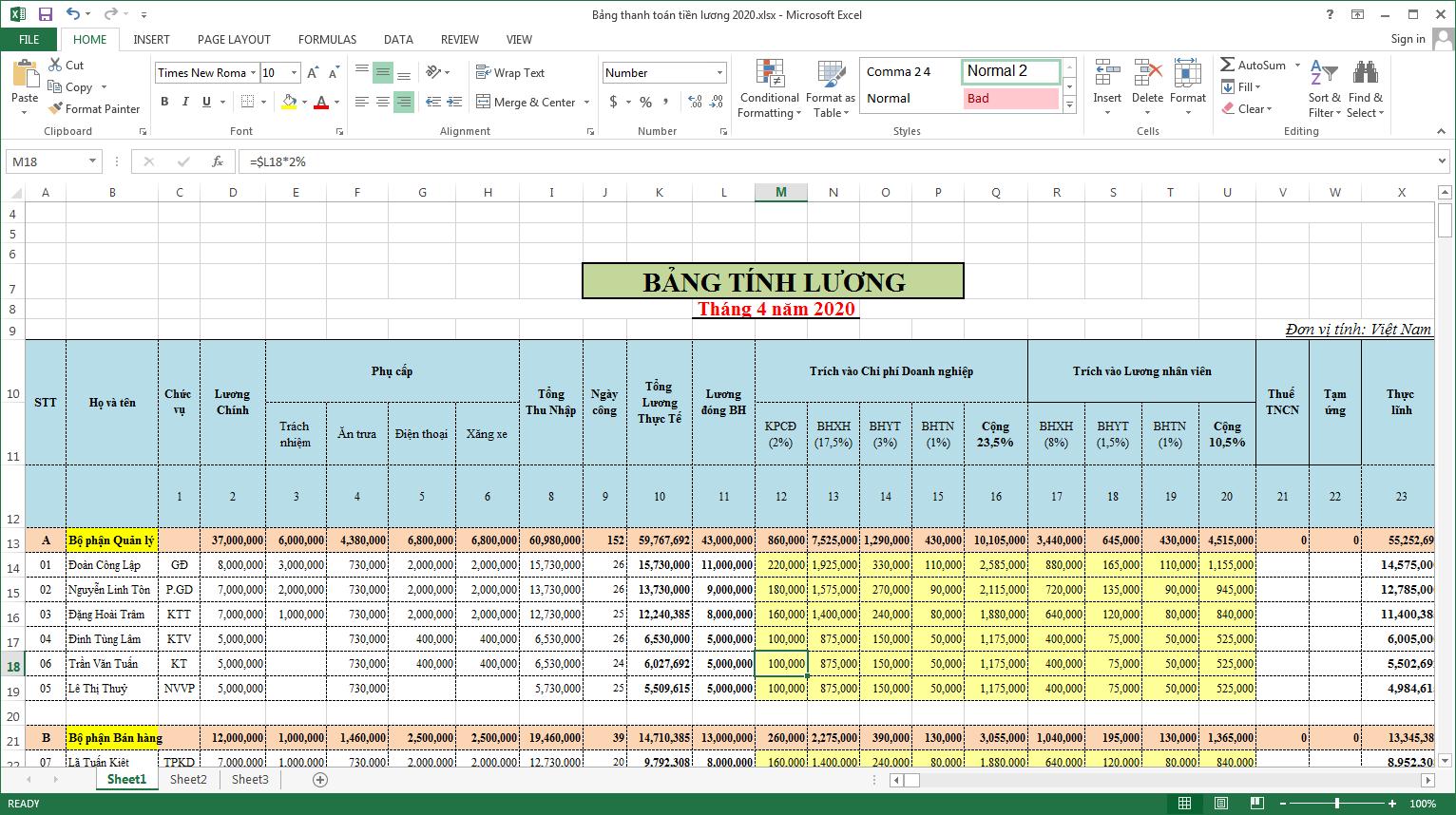 Cách giãn dòng trong Excel