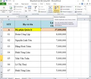 Hướng dẫn cách lọc dữ liệu trùng trong Excel